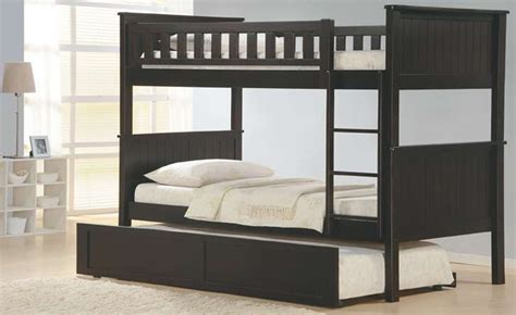 Solid Wood Bunk Beds With Trundle Espresso Bunk Bed Solid Wood Trundle