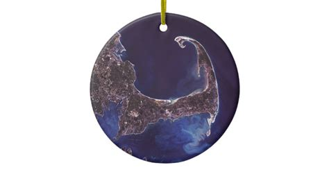 cape cod satelite photograph ceramic ornament zazzle