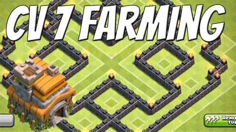 layout cv 7 farming youtube clash of clans layout cv 7 farming base youtube