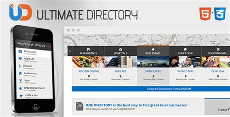 themeforest listable directory responsive site template by crunchpress