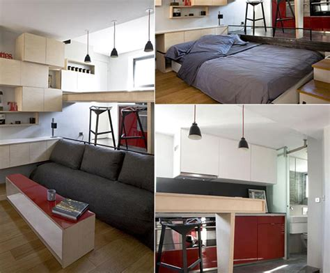 small apartment built on 130 square feet surface design swan