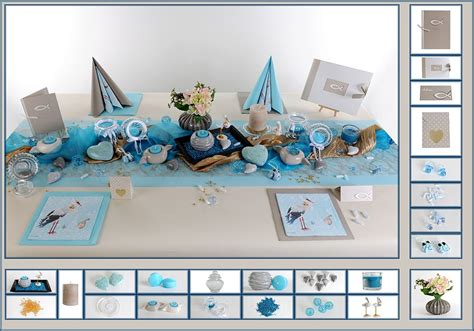 Tischdeko Hochzeit Hellblau by Taufe Tischdeko In Hellblau Und Grau Tafeldeko