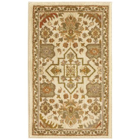 home accent rug collection home decorators collection grayson ivory 1 ft 10 in x 3 ft accent rug 450381 the home depot