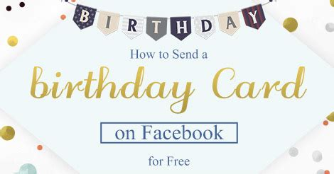 How To Send Birthday Card On How To Send A Birthday Card On Facebook For Free Amolink