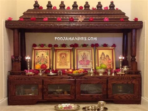 How To Decorate A Temple At Home by Wooden Pooja Mandir Designs Pooja Pooja Room Pooja