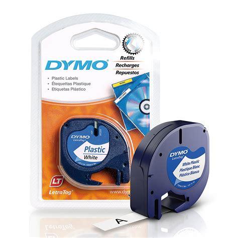 Label Letratag Dymo Plastic Clear Dymo Letratag improved letratag white plastic refill cartridges dymo letra tag new ebay