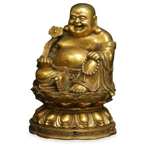 Happy Buddha Bronze Laughing Happy Buddha
