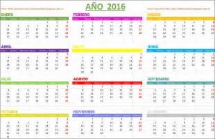 Calendario Calendario 2016 Hojas Excel Facil Calendario 2016 Gratis