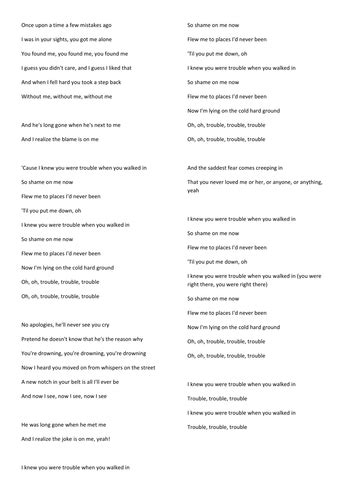 printable version in hindi song lyrics by arry22 teaching resources tes