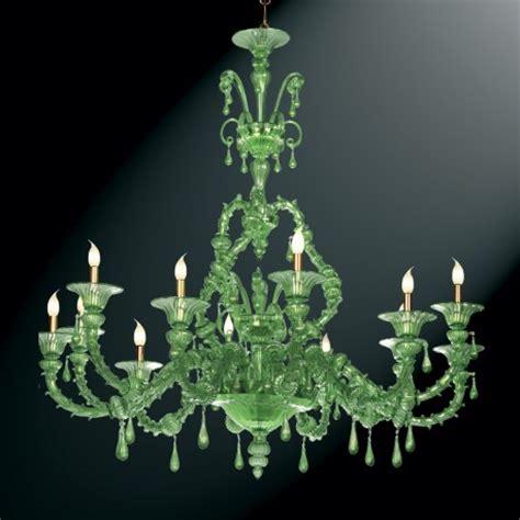 Green Chandelier Quot Smeraldo Quot Green Murano Glass Chandelier Murano Glass