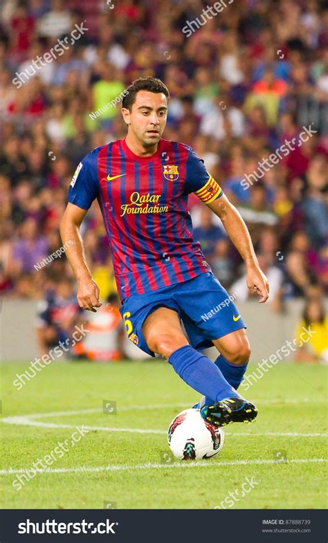 barcelona last match barcelona august 22 xavi hernandez in action during the