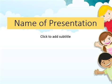 powerpoint template children children in a garden child s template for presentation
