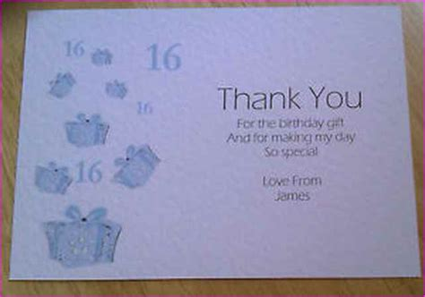 Thank You Card For Birthday Gift - thank you note for birthday gift card simple image gallery