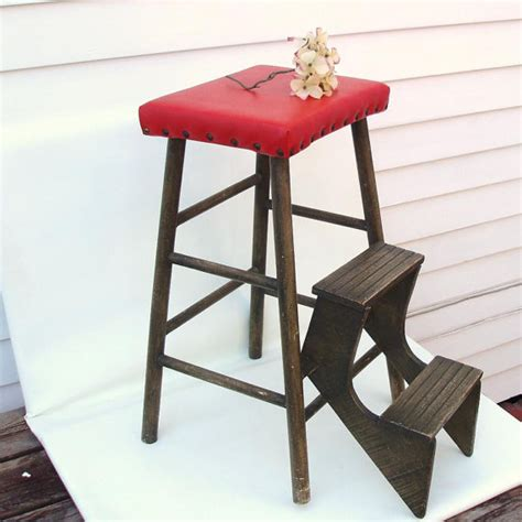 Stool With Fold Out Steps by 1940s Wood Fold Out Step Ladder Kitchen Stool Wooden Step