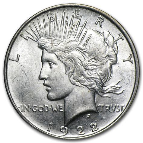 1 dollar silver coin 1922 1922 d peace silver dollar coin brilliant uncirculated