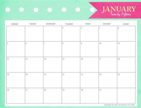 printable planner 2015 tumblr free january 2015 calendar cute