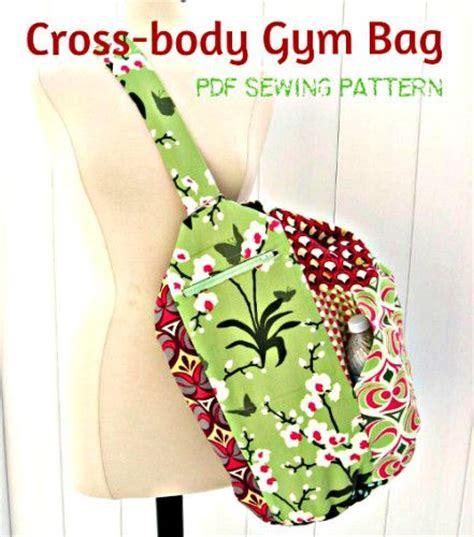 yoga gym bag pattern sew an upright cross body duffel bag for the gym or yoga