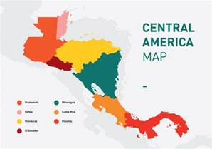 vector map of central america free vector