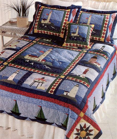 Lighthouse Comforters by Sailboat Lighthouse Quilt Seaside