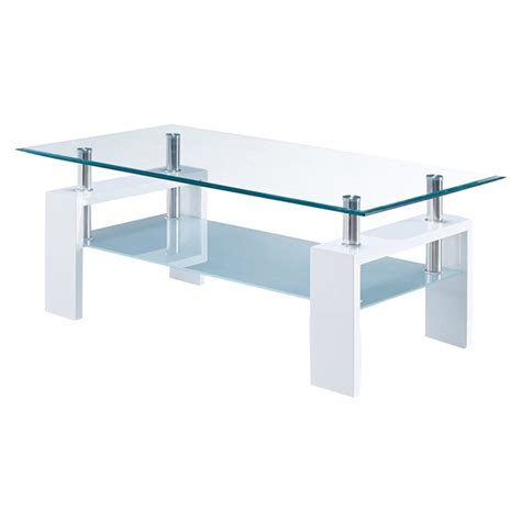 Glossy Coffee Table Coffee Table In Glossy White Dcg Stores