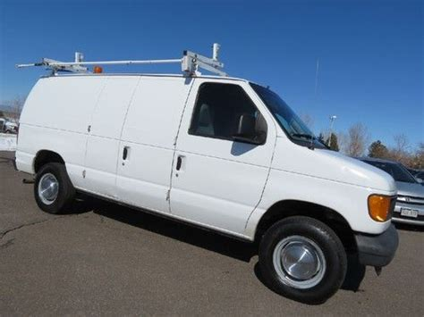 how does cars work 2004 ford e series engine control buy used 2004 ford e 250 cargo van 5 4 v8 1 company van w racks runs great fleet lease in