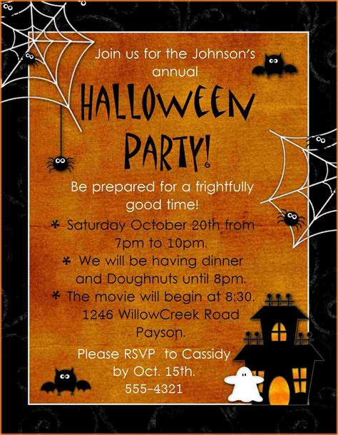 templates for halloween party invitations halloween party invitation templates authorization