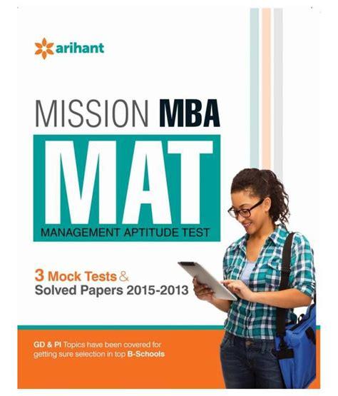 Mba Mat mission mba mat management aptitude test paperback