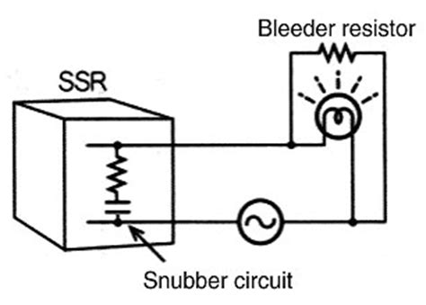 what is bleed resistor faq02243 for solid state relays omron industrial automation