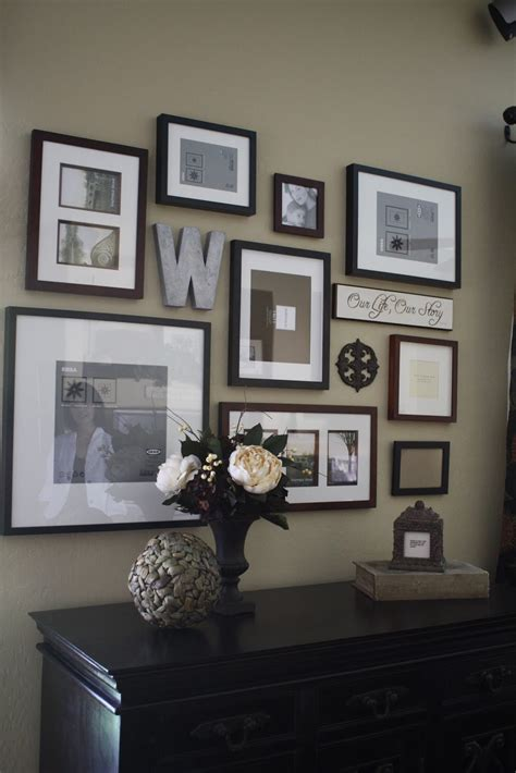 ideas for displaying photos on wall project home frame wall