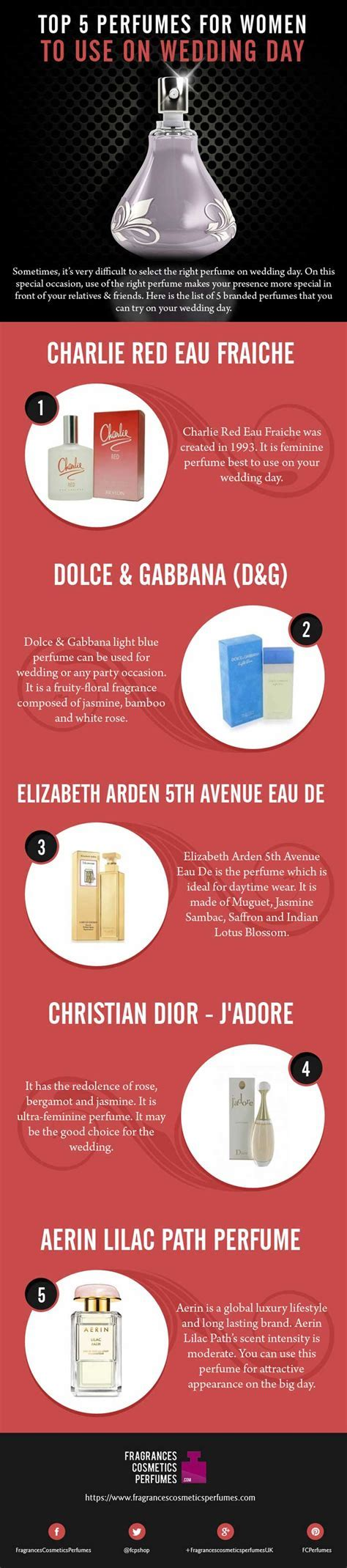 Top 5 Perfumes for Women to use on Wedding Day   Zigverve