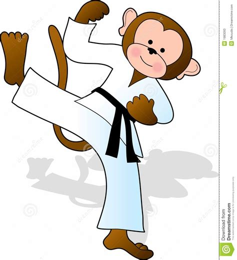 karate clipart martial arts monkey clipart