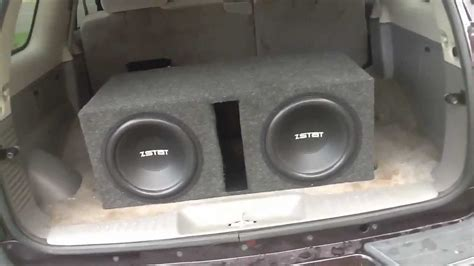 Speaker Subwoofer Ads 12 Inch loud 2 12 inch subs roof flex on 300 watts using quot drank