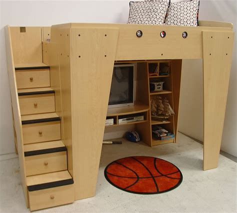 kids loft bed berg furniture kid s headquarters full loft bed with