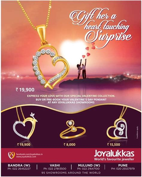 Valentines Offer At Collection by Express Your With Joyalukkas India S