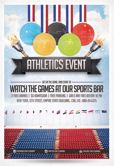 Templates For Sports Flyers | 28 best sport flyer templates wakaboom