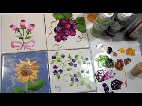 painting on ceramic tile craft painting ceramic tiles with folk art enamels youtube