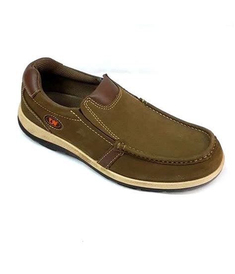 bata khaki leather casual shoes available at snapdeal for