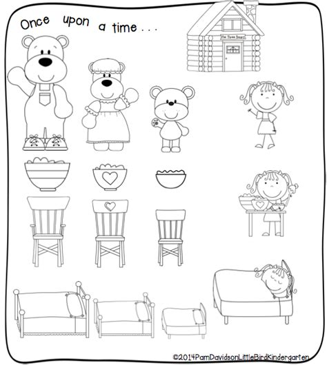 printable coloring pages for goldilocks and the three bears little bird kindergarten the three bears and listen up