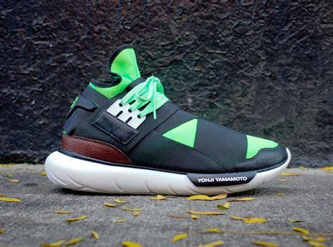 Adidas Y3 Qasa High Legit Us 85 adidas y 3 qasa high black neon white sneakernews