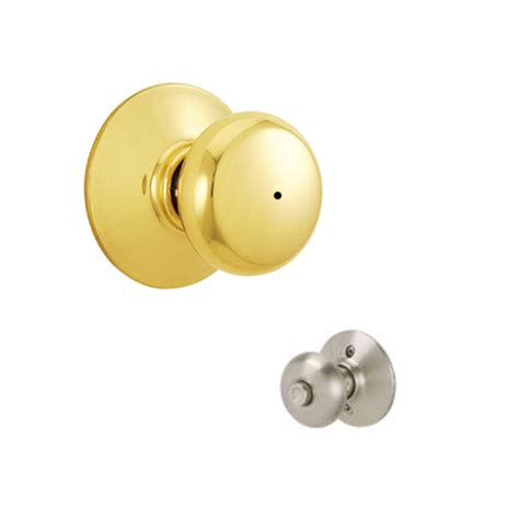 How To Take A Schlage Door Knob Apart by Schlage F40 Ply F Series Plymouth Privacy Lock Door Knobset