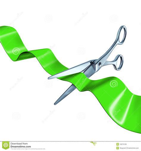 cortar imagenes cortando o verde da fita isolado imagens de stock royalty