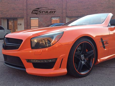orange mercedes orange mercedes sl63 vehicle customization shop