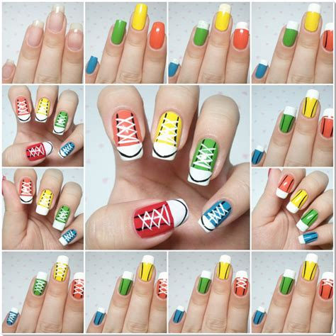 sneakers nail design ideas for beginners step by step