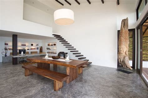modern tropical house interior wood design plushemisphere grande table 224 manger en bois massif avec quelles chaises