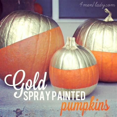 spray painting pumpkins gold pumpkins and a printable