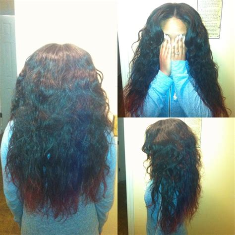sew in hairstyles with brazilian hair partial sew in body wave brazilian hair done by me