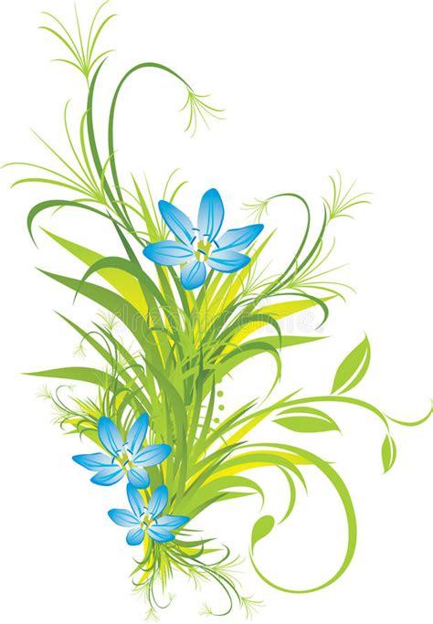 4 flores azules para jard ramo de flores azules con la hierba im 225 genes de archivo