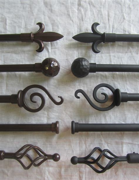 iron curtain rods urbanest classic forged iron window drapery curtain rod