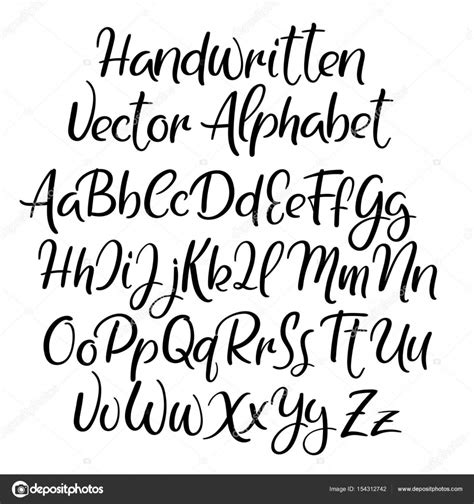 modern calligraphy style alphabet handwritten font