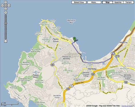 san jose monterey map san jose ca 95138 to 886 cannery row monterey ca 93940